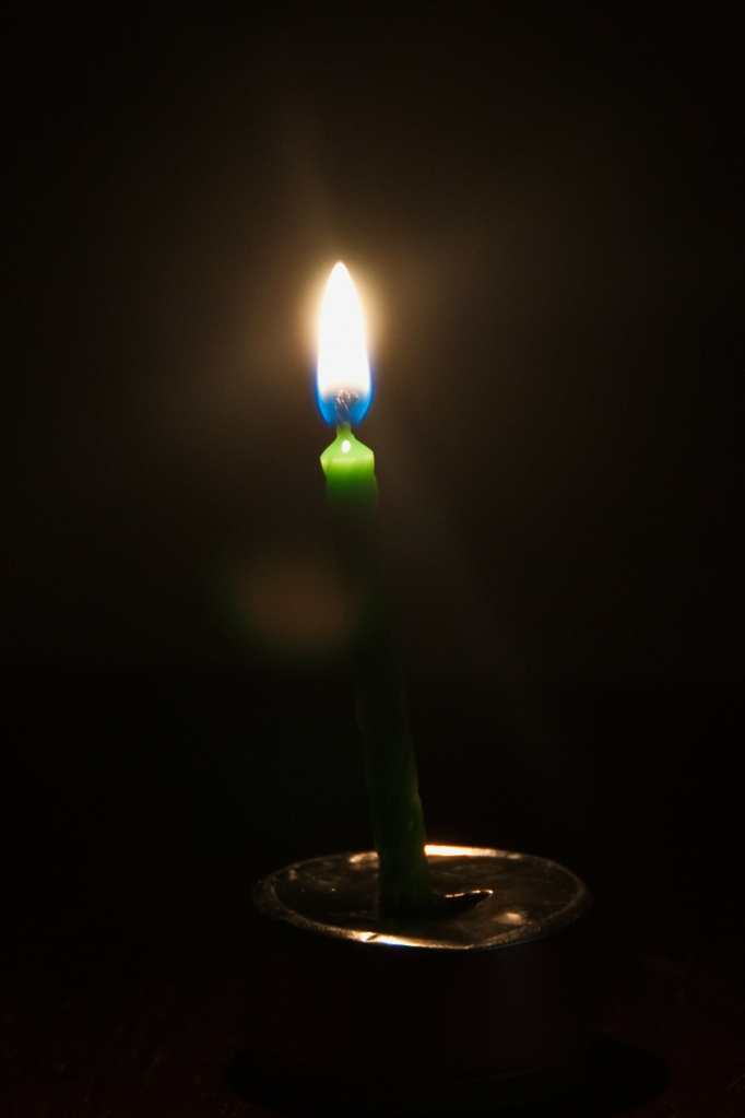 A single candle brings light to the darkest room.
