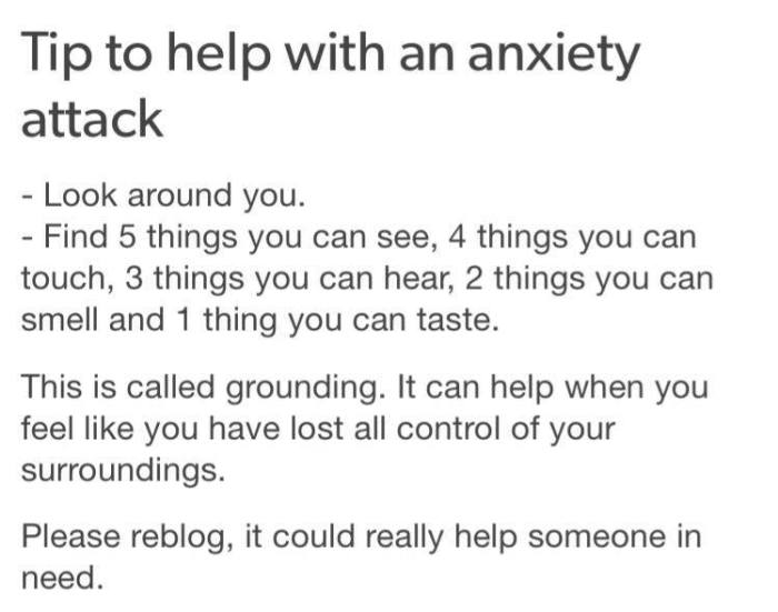 Tips for anxiety