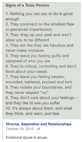 Emotionally abusive personality